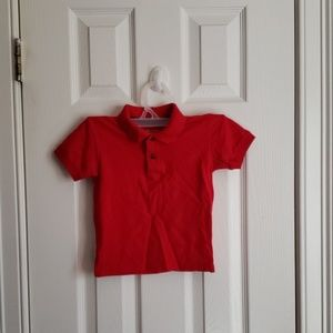 Red polo toddlers short sleeve shirt